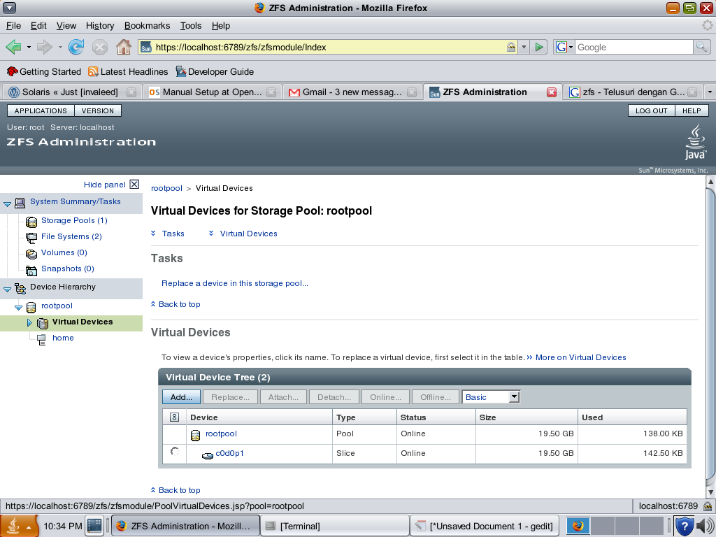 Zfs is a combined file system and logical volume manager designed by sun microsystems